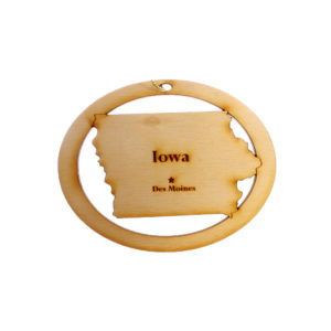 Personalized Iowa Ornament