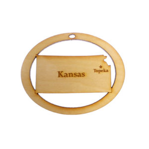 Personalized Kansas Ornament