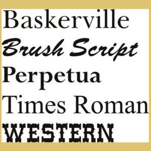 Font Sheet