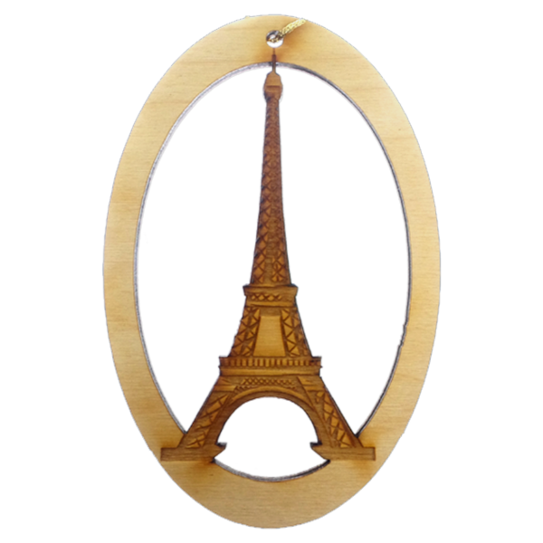 Personalized Eiffel Tower Ornament