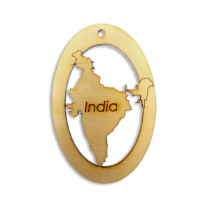 Personalized India Ornament