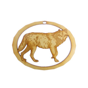 Personalized Wolf Ornament