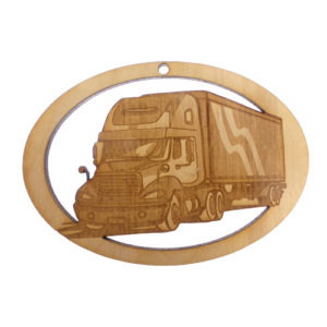Personalized Big Rig Ornament