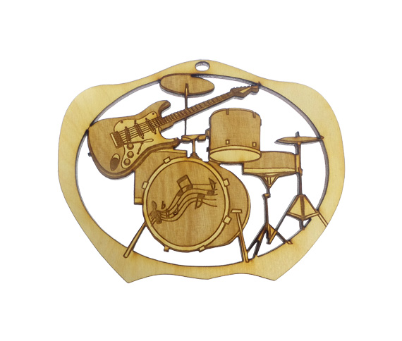 Drum and Guitar Ornament