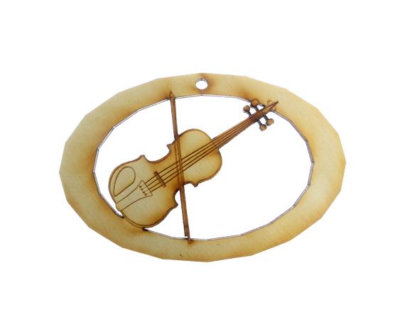 Fiddle Violin Ornament