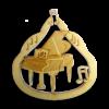Personalized Piano Ornament