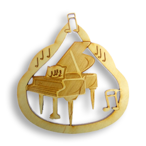 Personalized Piano Ornament