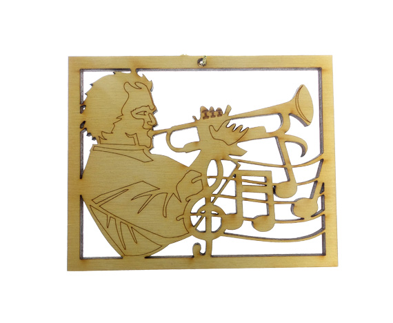 Trumpet Player Ornament