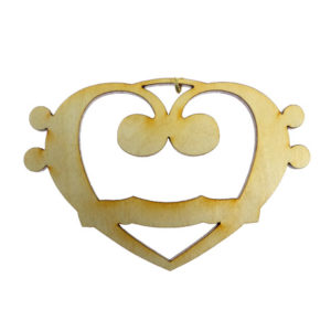 Bass Heart Ornament