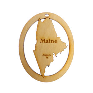 Personalized Maine Ornament