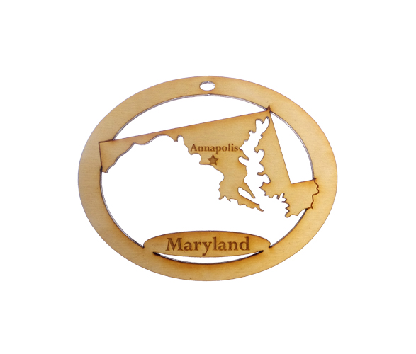Personalized Maryland Ornament