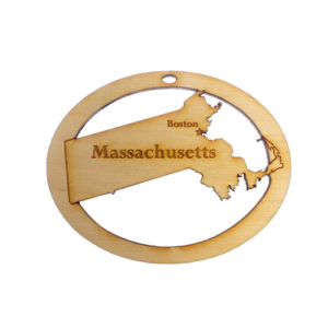 Personalized Massachusetts Ornament
