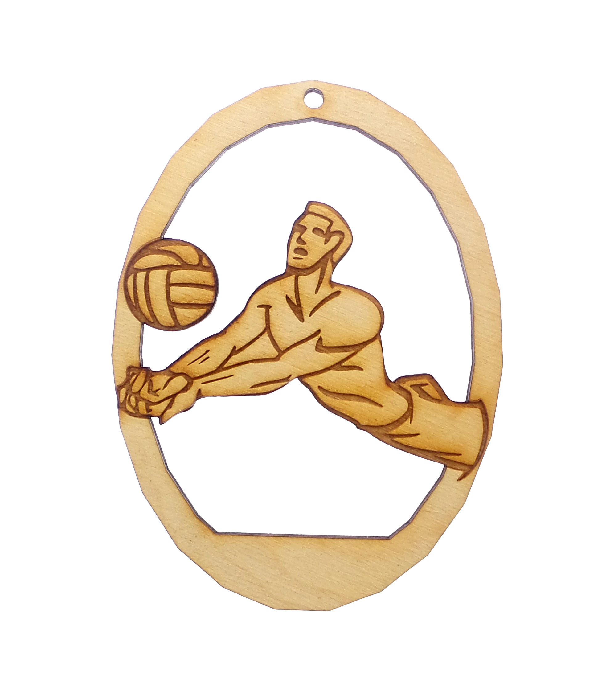 Personalized Mens Volleyball Christmas Ornament