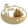Lighthouse Tallship Ornament
