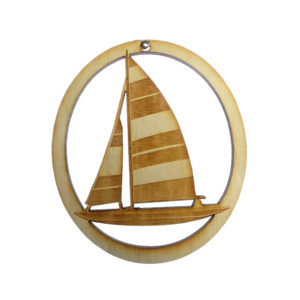 Sailboat Striped Sail Ornament