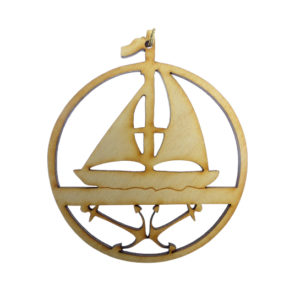 Sailboat Anchors Ornament