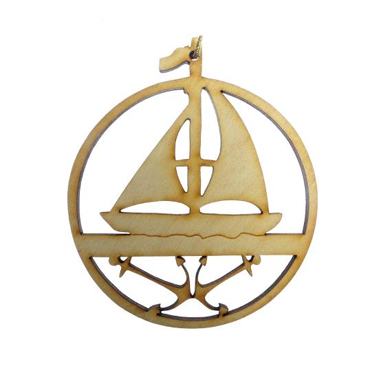 Sailboat Anchors Ornament