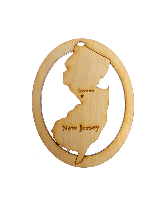 Personalized New Jersey Ornament
