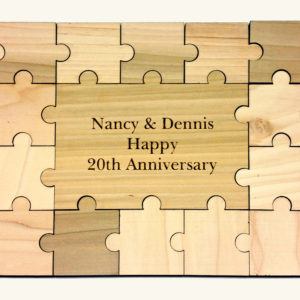 Wooden Wedding Guest Book | 23pc Puzzle Guest Book