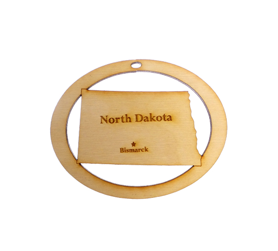 Personalized North Dakota Ornament