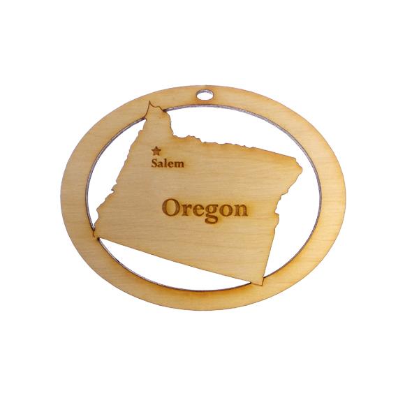 Personalized Oregon Ornament