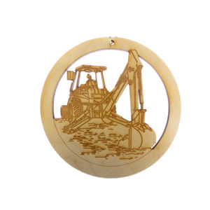 Backhoe Driver Ornament