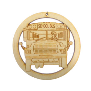 School Bus Driver Ornament Female
