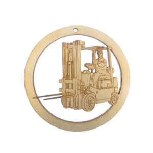 Fork Truck Driver Ornament