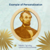Personalized President Lincoln Ornament