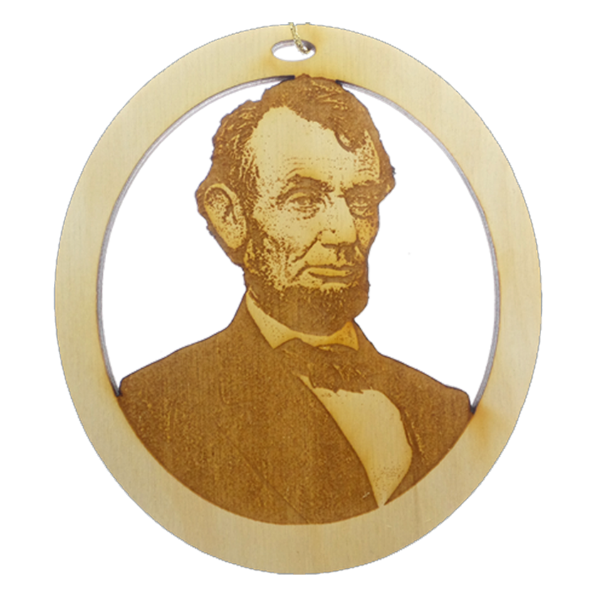 Personalized President Abraham Lincoln Ornament