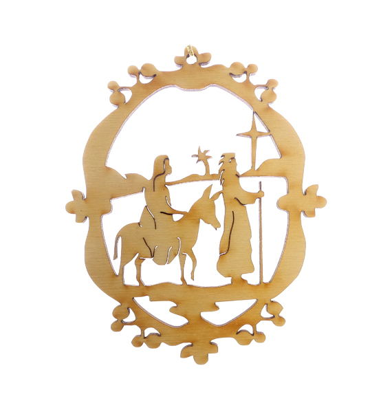 Ornate Mary and Joseph Ornament