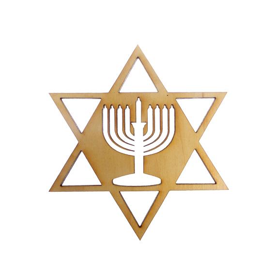 Star of David Menorah Decoration