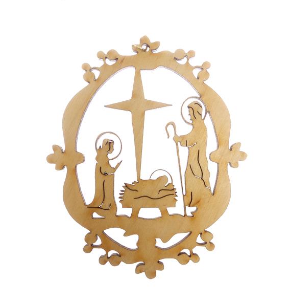 Ornate Nativity Ornament