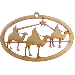 Wisemen Silhouette Ornament