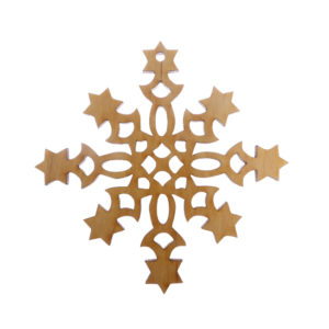 Snowflake with Stars Ornament