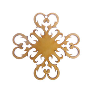 Hearts Snowflake Ornament