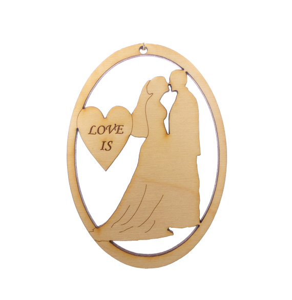 Personalized Bride and Groom Ornament