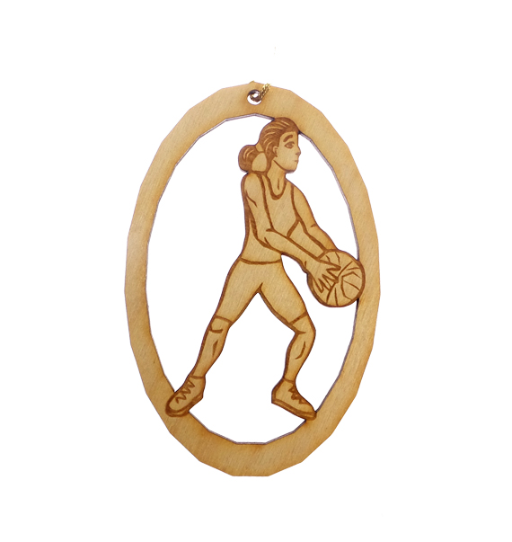 Personalized Basketball Player Ornament