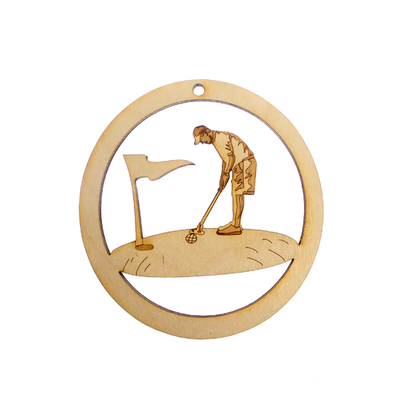 Personalized Golf Ornament