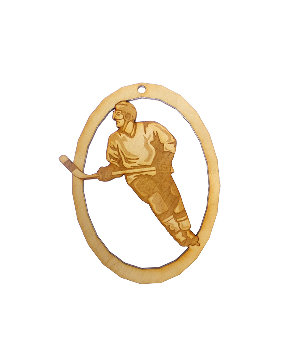 Personalized Ice Hockey Player Ornament