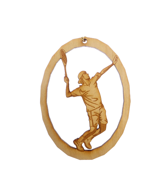 Personalized Mens Tennis Ornament