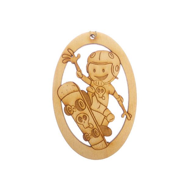 Personalized Skateboarder Ornament
