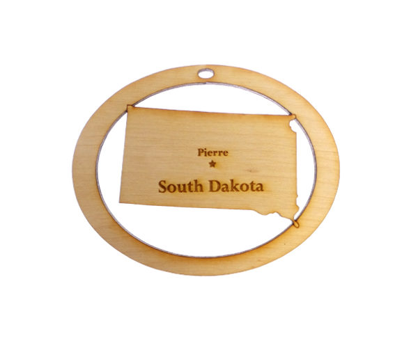 Personalized South Dakota Ornament