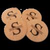 Split Monogram Coasters