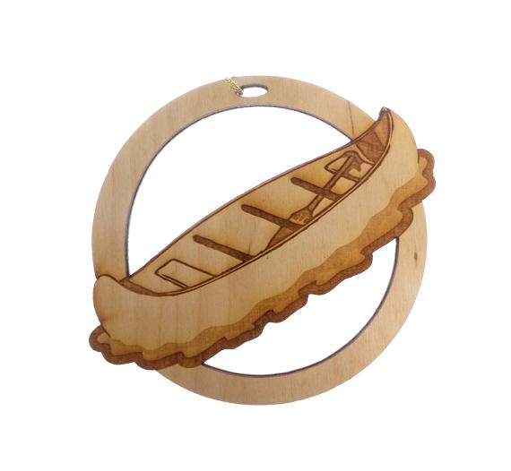 Personalized Canoe Ornament