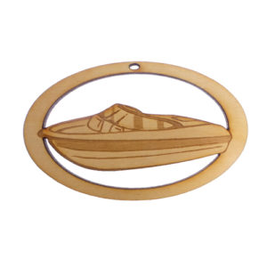 Personalized Bowrider Boat Ornament
