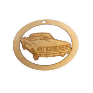 Personalized Convertible Mustang Ornament