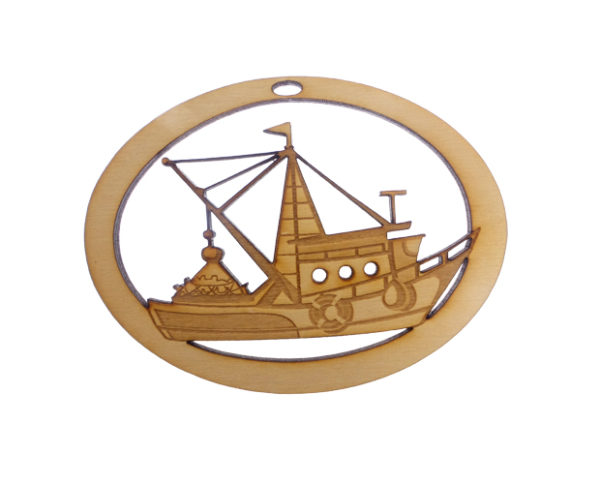 Personalized Trawler Ornament