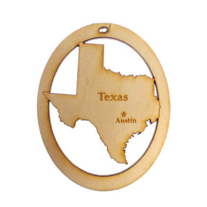Personalized Texas Ornament