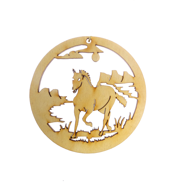 Personalized Wild Horse Ornament